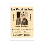 Judge Roy Bean Mini Poster Print