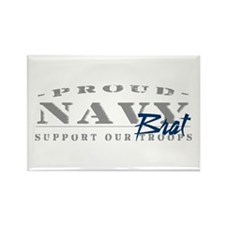 Proud Navy Brat (blue) Rectangle Magnet