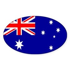 Australia Flag Oval Decal