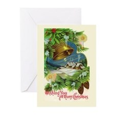 Christmas Bells Vintage Greeting Cards (Pk of 20)