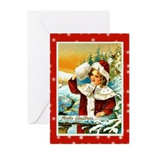 Girl with Fur Muff Greeting Cards (Pk of 20)