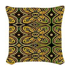 Adinkra Pattern Woven Throw Pillow