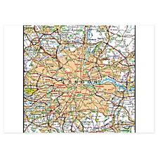 Map of London England Invitations