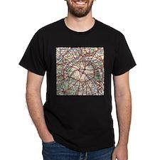 Map of Paris France T-Shirt
