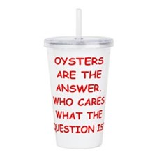 oysters Acrylic Double-wall Tumbler
