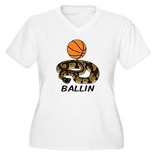 Ballin Women's V-Neck Plus Size T-Shirt