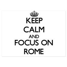 Keep Calm and focus on Rome Invitations