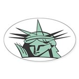Lady Liberty Oval Decal