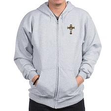 Unique Benedictine Zip Hoodie