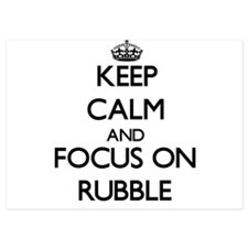 Keep Calm and focus on Rubble Invitations