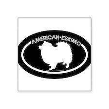 AmericanEskimoOvalWhite Sticker