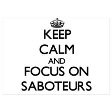 Keep Calm and focus on Saboteurs Invitations