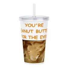 peanut butter lover Acrylic Double-wall Tumbler