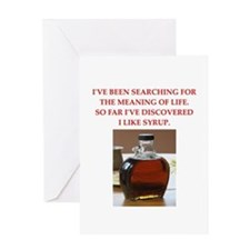 syrup Greeting Card