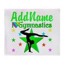 SPARKLING GYMNAST Throw Blanket