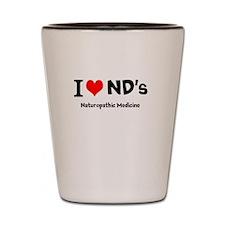 I Love NDs Shot Glass