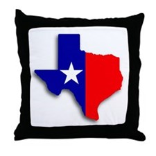 State Of Texas Shape Throw Pillow