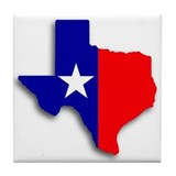 State Of Texas Shape Tile Coaster