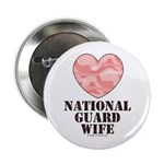 National Guard Wife Camo Heart Button