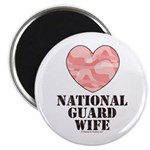 National Guard Wife Camo Heart Magnet
