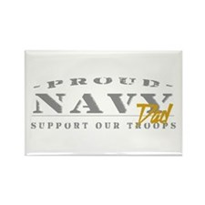 Proud Navy Dad (gold) Rectangle Magnet