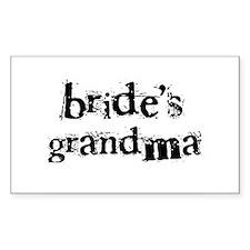 Bride's Grandma Rectangle Decal