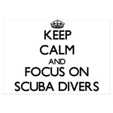 Keep Calm and focus on Scuba Divers Invitations
