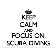 Keep Calm and focus on Scuba Diving Invitations