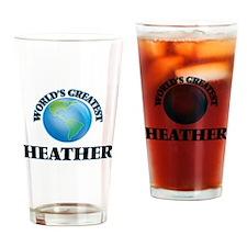 World's Greatest Heather Drinking Glass