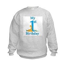 First Birthday Giraffe Sweatshirt