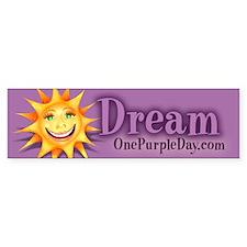 """""""Today's Weather: Happy"""" Sun Bumper Bumper Sticker"""