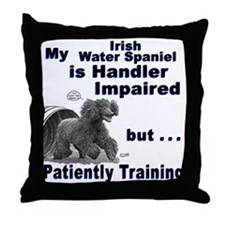 Irish Water Spaniel Agility Throw Pillow