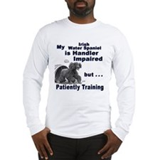 Irish Water Spaniel Agility Long Sleeve T-Shirt