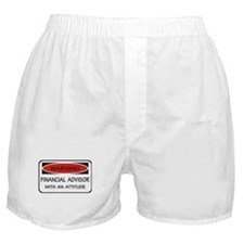 Attitude Financial Advisor Boxer Shorts