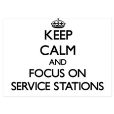 Keep Calm and focus on Service Station Invitations