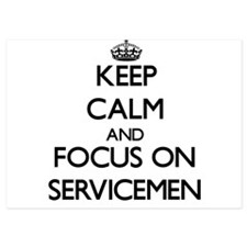 Keep Calm and focus on Servicemen Invitations