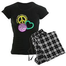 PEACE, LOVE, VOLLEYBALL Pajamas