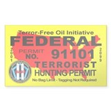 Terror-Free Oil Terrorism Hunting Permit