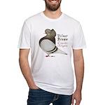 Brown Bar Cap Flight Fitted T-Shirt