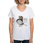 Brown Bar Cap Flight Women's V-Neck T-Shirt