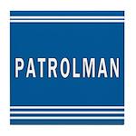 Patrolman Blues Tile Coaster