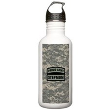 Proud Army Stepmom Cam Water Bottle