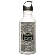 Proud Army Uncle Camo Water Bottle