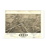 Akron antique map. Postcards (Package of 8)