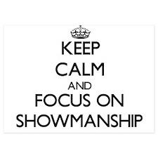 Keep Calm and focus on Showmanship Invitations