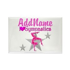 GYMNASTICS LOVE Rectangle Magnet (10 pack)