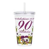90 birthday Insulated Drinkware