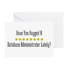 Hugged Database Administrator Greeting Cards (Pack