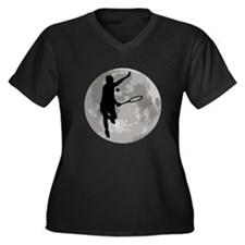 Tennis Player Moon Plus Size T-Shirt