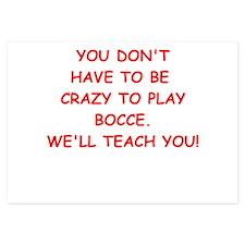 BOCCE 3.5 x 5 Flat Cards